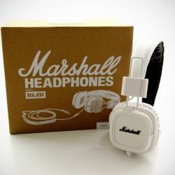 MARSHALL MAJOR HEADPHONES AND WHITE HEADPHONES