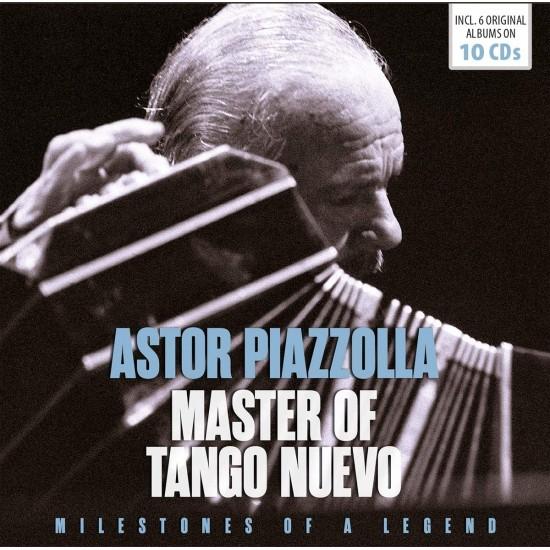 PIAZZOLLA ASTOR MASTER OF TANGO NUEVO 10 CDS MILESTONES OF A LEGEND
