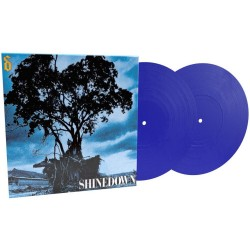 SHINEDOWN LEAVE A WHISPER 2 LP LIMITED BLUE
