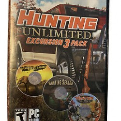 HUNTING UNLIMITED EXCURSION 3 PACK PC CD ROM SOFTWARE
