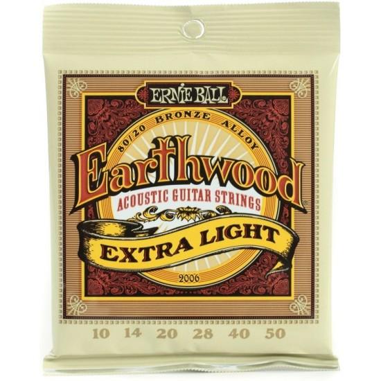 ACOUSTIC GUITAR SETS ERNIE BALL 0.10 EARTHWOOD EXTRA LIGHT