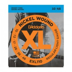 ELECTRIC STRINGS SET D ADDARIO EXL 110 NICKEL WOUND 10/46