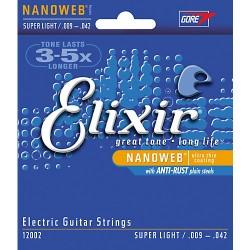 ELECTRIC STRINGS SET ELIXIR NANOWEB 0.09- 0.42