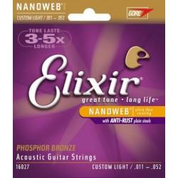 ACADEMIC GUITAR STRINGS ELIXIR NANOWEB 0.11 0.52
