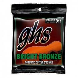 ACOUSTIC GUITAR STRINGS SET GHS 0.11- 0.50 BRIGHT BRONZE