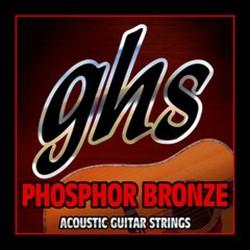 ACOUSTIC GUITAR STRINGS SET GHS 011 PHOSPHOR BRONZE EXTRA LIGHT