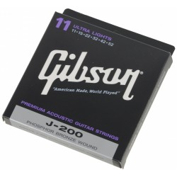 SET ΧΟΡΔΕΣ ΑΚΟΥΣΤΙΚΗΣ ΚΙΘΑΡΑΣ GIBSON J 200 0.11 ULTRA LIGHTS