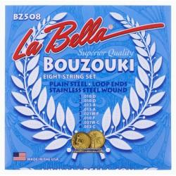 EIGHT STRING BOUZOUKI LA BELLA STAINLESS STEEL 0.10 SET