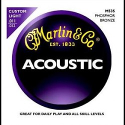 MARTIN AND CO SET ACOUSTIC GUARD STRINGS 0 11 M 535
