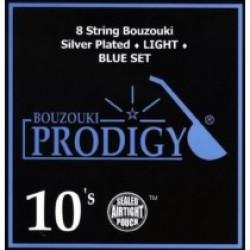 BOUZOUKI STRINGS 0.10 SET EIGHT STREET PRODIGY SILVER