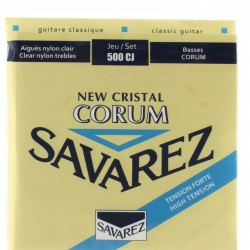 SAVAREZ NEW CRISTAL CORUM TENSION FORTE 500CJ SET OF CLASSIC GUITAR STRINGS