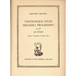 CARCASSI Matteo venticinque studi progressive melodies for chitatta opus 60