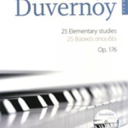 DUVERNOY JP 25 elementary studies op. 176.