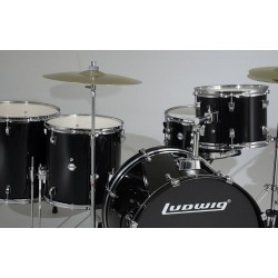 drum set ludwig 10 '', 12 '', 14 '', 14 '', 20 '' complete set with the plates and seat