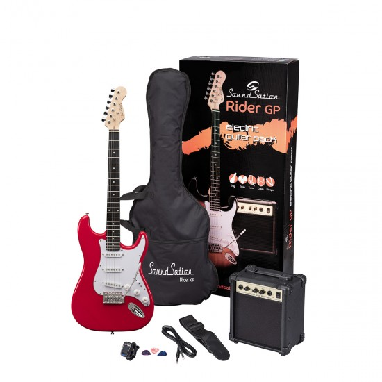 ELECTRIC GUITAR PACK SOUNDSATION APPLE RED