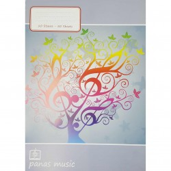 MUSIC NOTEBOOK A4 10 STAVES 50 SHEETS